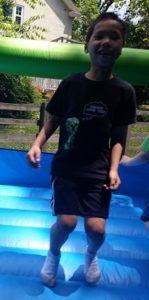 Shane jumping